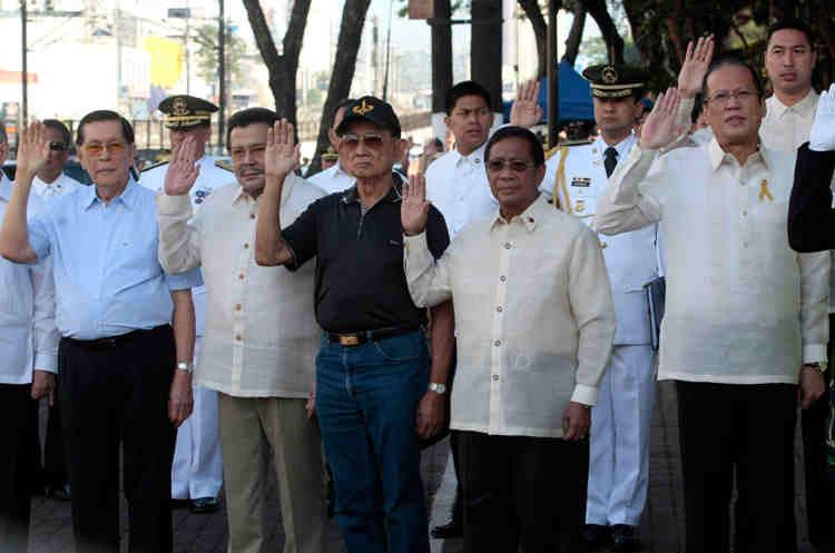 Enrile, Estrada, Ramos, Binay, and Aquino