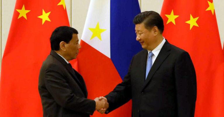 Philippine President Rodrigo Duterte and People's Republic of China President Xi Jinping