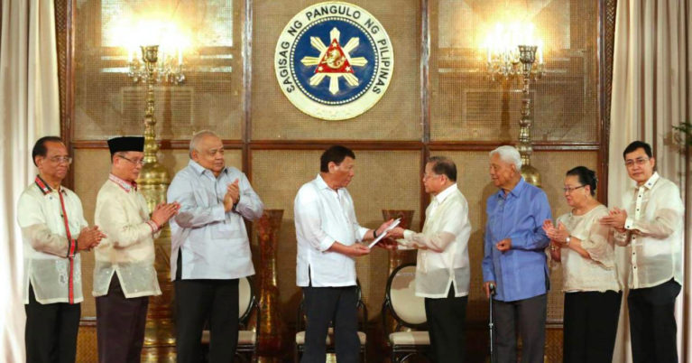 President Duterte receives proposed federal constitution of Consultative Committee