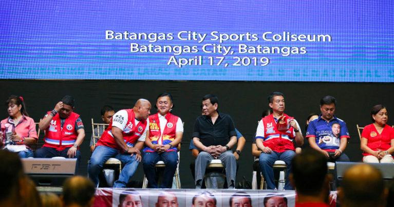 Rodrigo Duterte and his candidates
