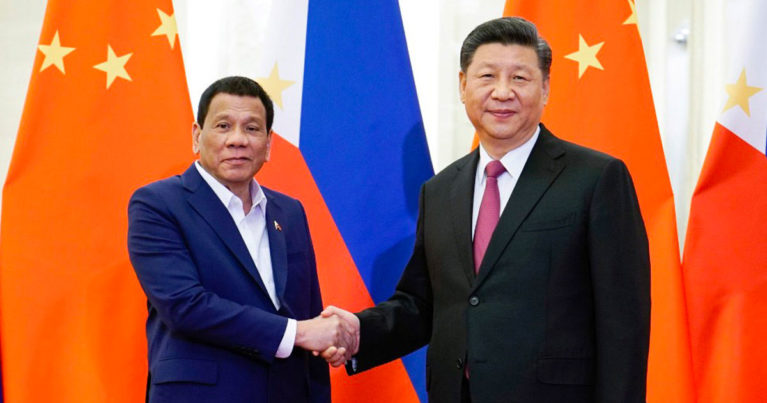 Rodrigo Duterte and Xi Jinping